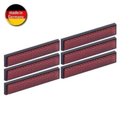 hr mini reflektoren 6er set rot selbstklebend gr e. Black Bedroom Furniture Sets. Home Design Ideas