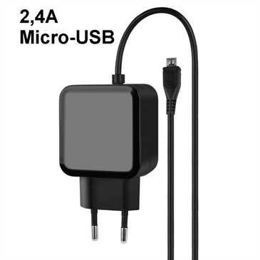 Netzteil Duo Micro-USB + 2x USB-A - 100-240V AC - 5V DC 2 4A - für