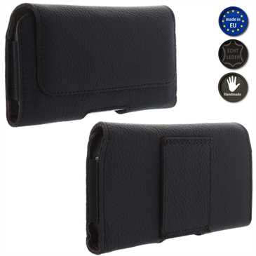 XiRRiX Echt Leder Smartphone Horizontaltasche - Innenmaß: 129 x 65,5 x 12 mm (L-Slim)