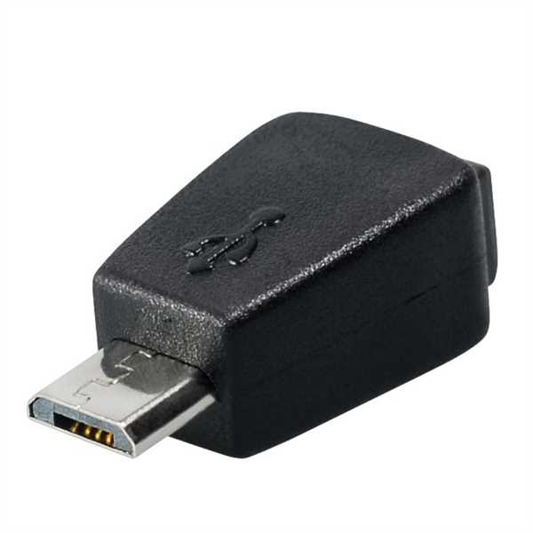 micro usb adapter micro usb b stecker auf mini usb 5pin. Black Bedroom Furniture Sets. Home Design Ideas