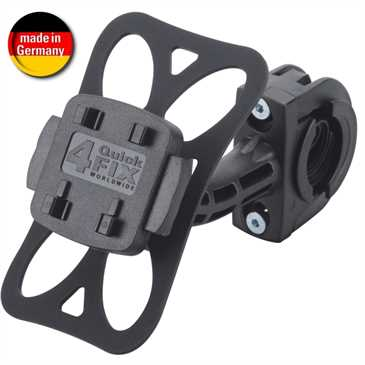 HR Fahrrad-/ Motorradhalter mit Schnellverschluss für Lenker Ø 22,2 mm - 31,8 mm