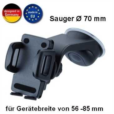 HR Kfz Halter KIT HRX mit Schnellverschluss für Gerätebreite von 56 - 85 mm (Made in Germany)