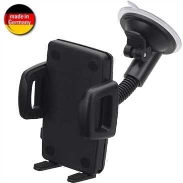 HR Kfz Halter Windschutzscheibe für Smartphones von 56 - 85 mm Breite (Made in Germany)