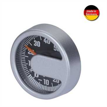 HR Thermometer im Alu Design - selbstklebende Befestigung - Ø 44 x 13 mm (Made in Germany)