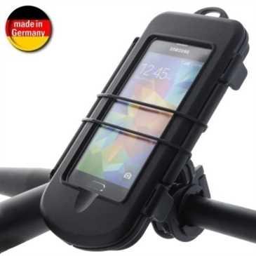 HR Fahrrad-/ Motorrad KIT Spritzschutzbox S + Bikemount 6 für Lenker f. Geräte bis 128 x 68 x 12 mm